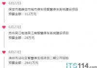 ITS114 城市贝博手机停车行业简报(6.22~6.26)