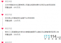 ITS114 城市智慧停车行业简报(8.24~8.28)
